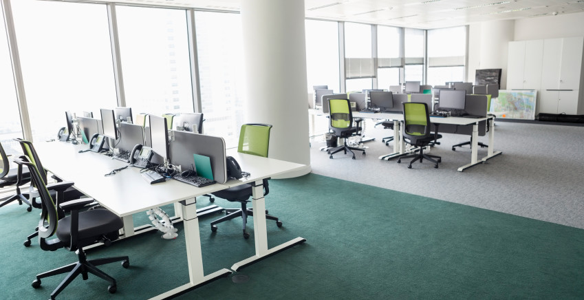 Hot desking in office space